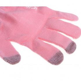 iGlove Sarung Tangan Touch Screen Untuk Smartphones & Tablet - Pink - 6