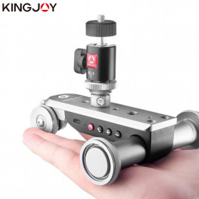 Dolly / Camera Slider - Kingjoy Pro Camera Slider Dolly Motor Elektrik Adjustable Speed Without Remote - PPL-06S - Silver