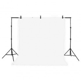 TaffSTUDIO Bracket Stand Backdrop Foto Studio 160 x 200 cm - DD-110 - Black - 1