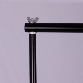 TaffSTUDIO Bracket Stand Backdrop Foto Studio 160 x 200 cm - DD-110 - Black - 3