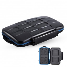 Memory Card Case Holder Storage Box 2 CF + 4 SD + 4 Micro SD - MC-STC10 - Black