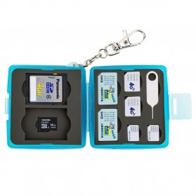 JJC Memory Card Storage Box 8 Nintendo Switch Card + 8 Micro SD - MC-10B - Blue - 3