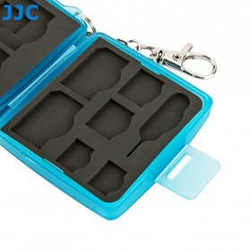 JJC Memory Card Storage Box 8 Nintendo Switch Card + 8 Micro SD - MC-10B - Blue - 4