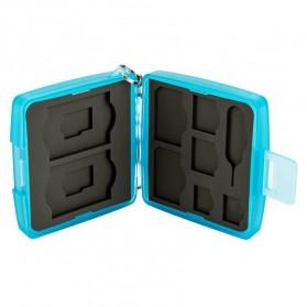 JJC Memory Card Storage Box 8 Nintendo Switch Card + 8 Micro SD - MC-10B - Blue - 5