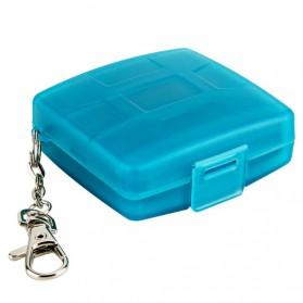 JJC Memory Card Storage Box 8 Nintendo Switch Card + 8 Micro SD - MC-10B - Blue - 6