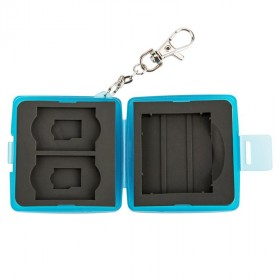 JJC Memory Card Case Holder Storage Box 1 CF + 2 SD + 2 Micro SD Card - MC-8B - Blue