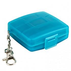 JJC Memory Card Case Holder Storage Box 1 CF + 2 SD + 2 Micro SD Card - MC-8B - Blue - 3
