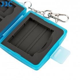 JJC Memory Card Case Holder Storage Box 1 CF + 2 SD + 2 Micro SD Card - MC-8B - Blue - 4