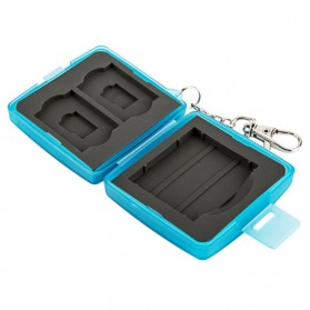 JJC Memory Card Case Holder Storage Box 1 CF + 2 SD + 2 Micro SD Card - MC-8B - Blue - 5