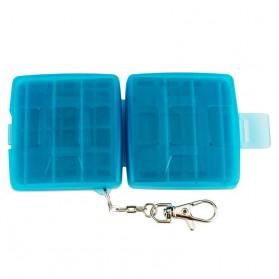 JJC Memory Card Case Holder Storage Box 1 CF + 2 SD + 2 Micro SD Card - MC-8B - Blue - 6