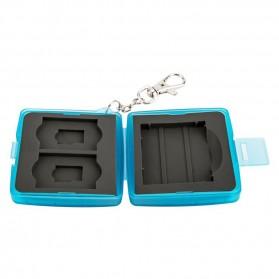 JJC Memory Card Case Holder Storage Box 1 CF + 2 SD + 2 Micro SD Card - MC-8B - Blue - 8