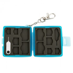 JJC SIM Card Case Holder Storage Box - MC-9B - Blue