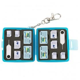 JJC SIM Card Case Holder Storage Box - MC-9B - Blue - 3
