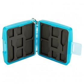 JJC SIM Card Case Holder Storage Box - MC-9B - Blue - 5