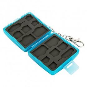 JJC SIM Card Case Holder Storage Box - MC-9B - Blue - 8