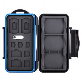 JJC Memory Card Case Holder Storage Box 3 CF + 2 SD + 2 Micro SD - MC-STC14 - Black