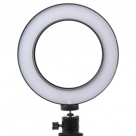 TaffSTUDIO Lampu Halo Ring Light LED Kamera 8W 6 Inch with Mini Tripod - RL-19 - White - 2