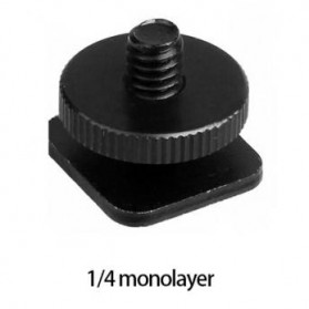 Tripod Screw Hot Shoe Kamera DSLR 1/4 Thread - HS14 - Black