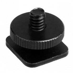 Tripod Screw Hot Shoe Kamera DSLR 1/4 Thread - HS14 - Black - 2