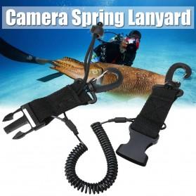 Spring Lanyard Kamera Scuba Diving - K-102 - Black