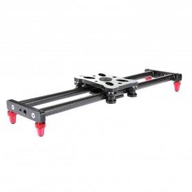 Dolly / Camera Slider - Magneti Carbon Fiber Slider Bearing Stabilizer 40cm for DSLR + Smartphone - DL40 - Black