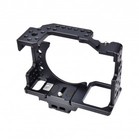 YELANGU Camera Cage Rig Kit without Clip for Sony A7 A7K A72 A73 A7S2 A7R2 A7R3 A7X - CA7 - Black - 4
