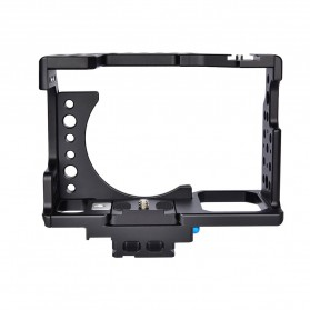YELANGU Camera Cage Rig Kit without Clip for Sony A7 A7K A72 A73 A7S2 A7R2 A7R3 A7X - CA7 - Black - 5