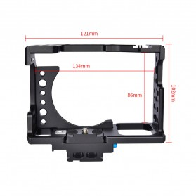 YELANGU Camera Cage Rig Kit without Clip for Sony A7 A7K A72 A73 A7S2 A7R2 A7R3 A7X - CA7 - Black - 7