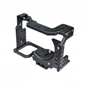YELANGU Camera Cage Rig Kit without Clip for Sony A7 A7K A72 A73 A7S2 A7R2 A7R3 A7X - CA7 - Black - 8
