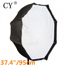 CY Payung Octagonal Softbox Reflektor Flash 95 CM - CY95 - Black