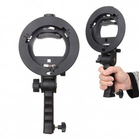 CY Payung Softbox Reflektor Flash S-Type Bowens Mount 40x40cm - CY-S1 - Black - 5