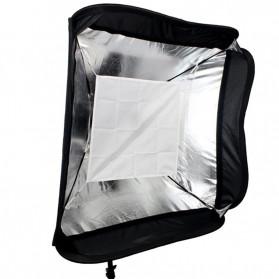 CY Payung Softbox Reflektor Flash S-Type Bowens Mount 50x50cm - CY-S1 - Black - 3