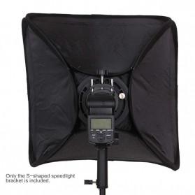 CY Payung Softbox Reflektor Flash S-Type Bowens Mount 50x50cm - CY-S1 - Black - 6