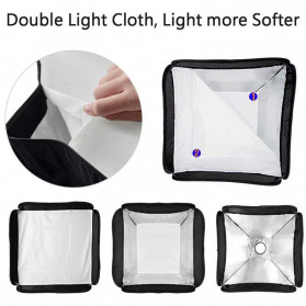 CY Payung Softbox Reflektor Flash S-Type Bowens Mount 50x50cm - CY-S1 - Black - 7