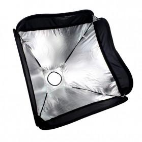 CY Payung Softbox Reflektor Flash S-Type Bowens Mount 50x50cm - CY-S1 - Black - 8