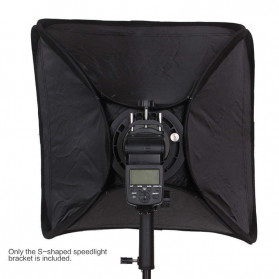 CY Payung Softbox Reflektor Flash S-Type Bowens Mount 80x80cm - CY-S1 - Black - 6