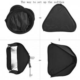 CY Payung Softbox Reflektor Flash S-Type Bowens Mount 80x80cm - CY-S1 - Black - 9