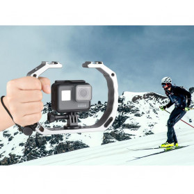 KEELEAD Handheld U-Rig Stabilizer Grip for GoPro - A63 - Silver - 2