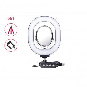 Yizhestudio Lampu Halo Ring Light LED Selfie 6 Inch with Tripod + Clamp - YZ-800 - Black - 3