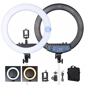 FOSOTO Lampu Halo Ring Light LED Selfie 240 LED 14 Inch - RL-12II - Black