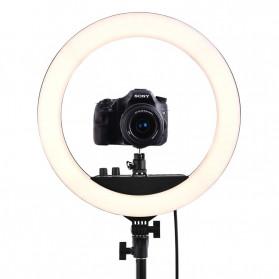 FOSOTO Lampu Halo Ring Light LED Selfie 240 LED 14 Inch - RL-12II - Black - 2