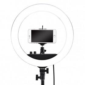 FOSOTO Lampu Halo Ring Light LED Selfie 240 LED 14 Inch - RL-12II - Black - 5