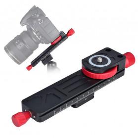 TWISTER Rail Slider Photography Tripod Head 2-Way 115mm - W-160 - Black
