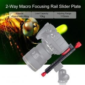 TWISTER Rail Slider Photography Tripod Head 2-Way 115mm - W-160 - Black - 3
