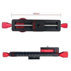 TWISTER Rail Slider Photography Tripod Head 2-Way 115mm - W-160 - Black - 4