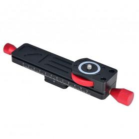 TWISTER Rail Slider Photography Tripod Head 2-Way 115mm - W-160 - Black - 6