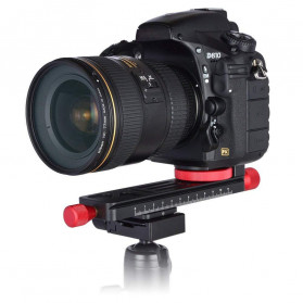 TWISTER Rail Slider Photography Tripod Head 2-Way 115mm - W-160 - Black - 8