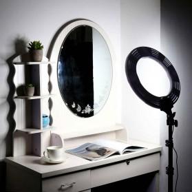Travor Lampu Halo Ring Light Kamera 448 LED 18 Inch with Smartphone Holder - RL-18 - Black - 2