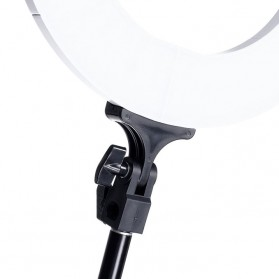 Travor Lampu Halo Ring Light Kamera 448 LED 18 Inch with Smartphone Holder - RL-18 - Black - 7