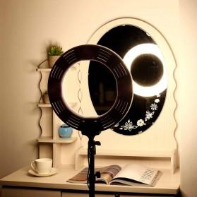 Travor Lampu Halo Ring Light Kamera 448 LED 18 Inch with Smartphone Holder - RL-18 - Black - 8